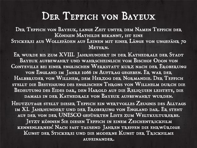 Der Teppich von Bayeux Zeichentrick  DVD